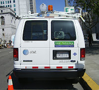 CNG-fueled AT&T vans like this Ford E-250 in San Francisco have become a common sight in many U.S. cities, and all of them were upfitted by BAF
