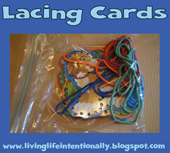 road trip ideas - lacing cards