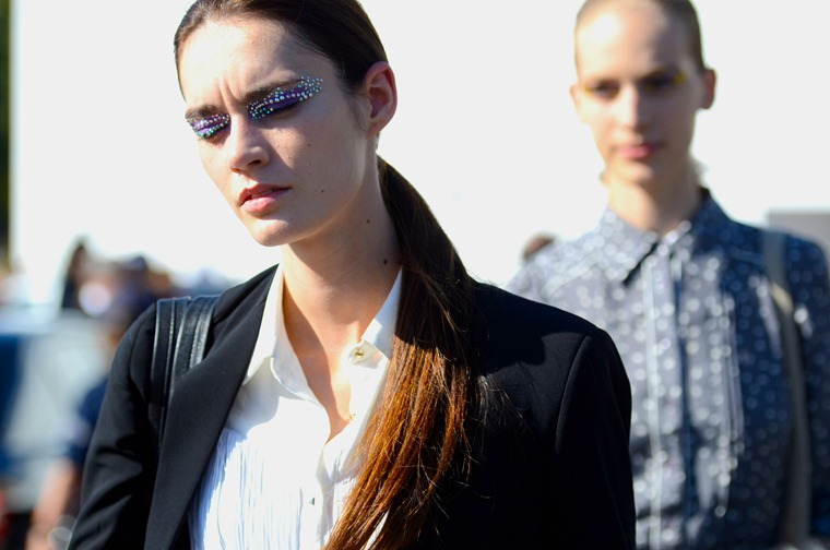 NobodyKnowsMaec.com Gianluca Senese Street Style models off duty dior paris fashion week make up