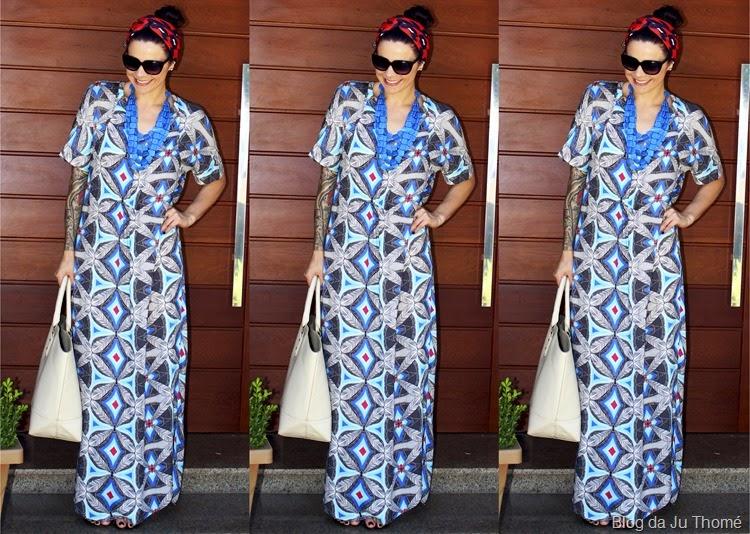 look vestido longo étnico