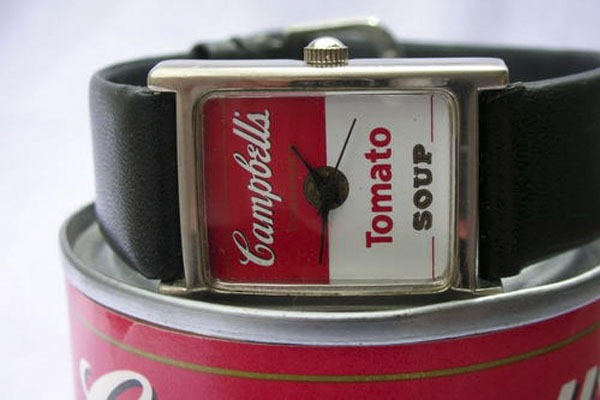 tomato-soup campbell's-relógio-de-pulso