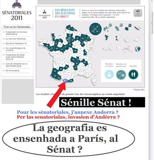 envasion d'Andòrra lo Sénat ataca