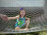 Cutie in the hammock. (May)