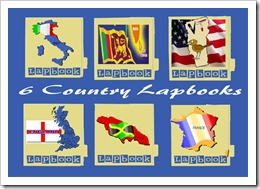 6 country lapbooks