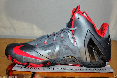 nike lebron 11 ps elite silver crimson camo 1 11 Nike LeBron XI PS Elite Wolf Grey Initial Drop in April for $275