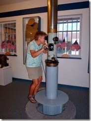 Working periscope in museum