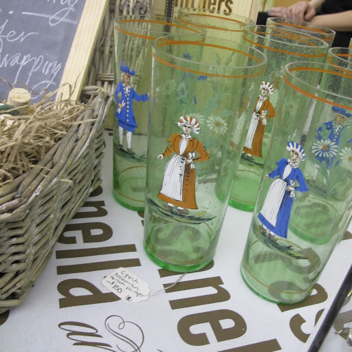 and vintage glassware...