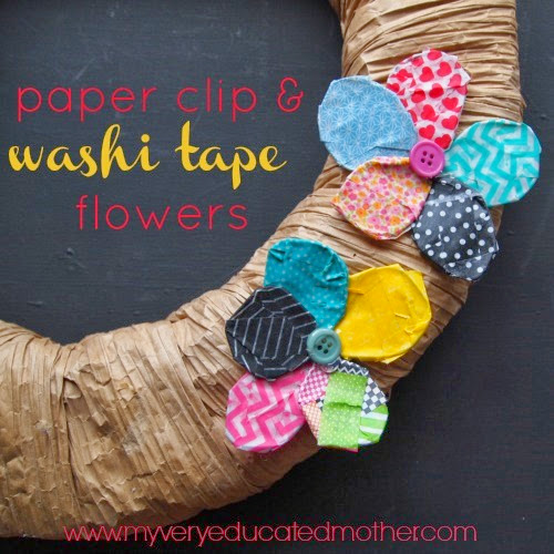 #PaperClipFlowers #washitape #flowers #wreath