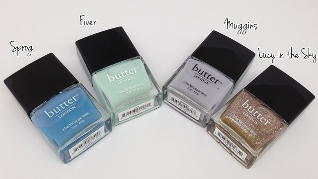 butter LONDON Sprog, Fiver, Muggins, Lucy in the Sky