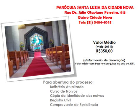 GUIA - CATOLICA - PAROQUIA SANTA LUZIA DA CIDADE NOVA