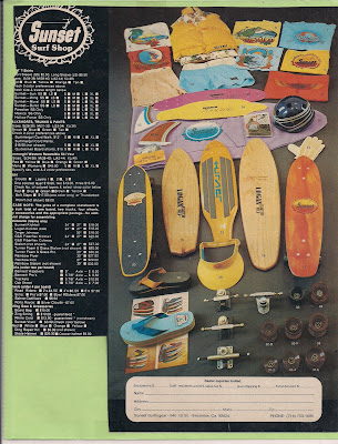 A Sunset Surf Shop ad with a couple of our boards.