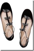 Chloé Embellished Suede T-bar Ballerina Flats 2