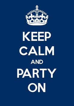 Keep calm and party on (Inviti2)