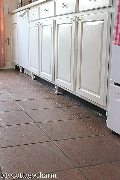 how to make feet for your cabinets