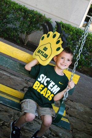 Nash's 1st day of School & Baylor Game 020