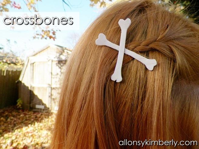 Skeleton Hair Clips } allonsykimberly.com