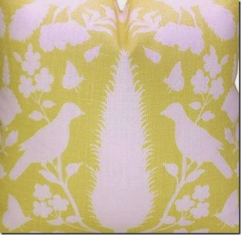 Schumacher yellow pillow