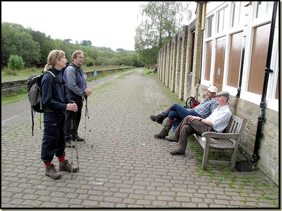 Lunch at Miller's Dale station