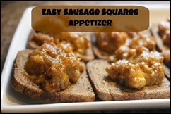 Many Waters Easy Sausage Squares Appetizer