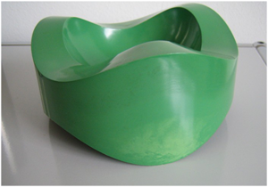 84030 Sinus ashtray, green