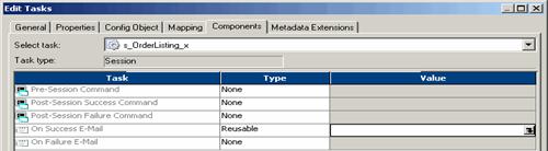 Tasks and Task Developer in  Informatica PowerCenter Workflow Manager