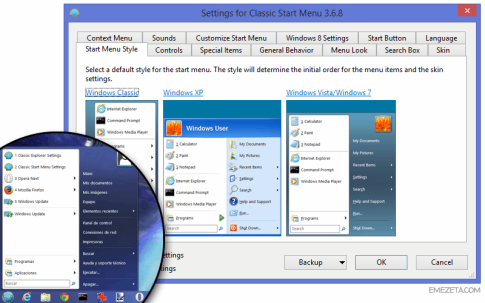 ClassicShell para Windows 8