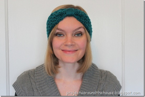 crochet turban ear warmer pattern bow