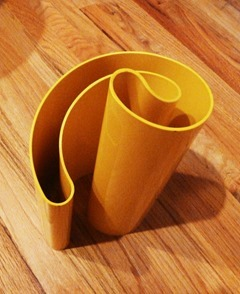 Yellow Deda vase by Giotto Stoppino for Heller