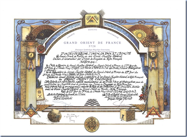 carta patente GODF-GCGdel GODC
