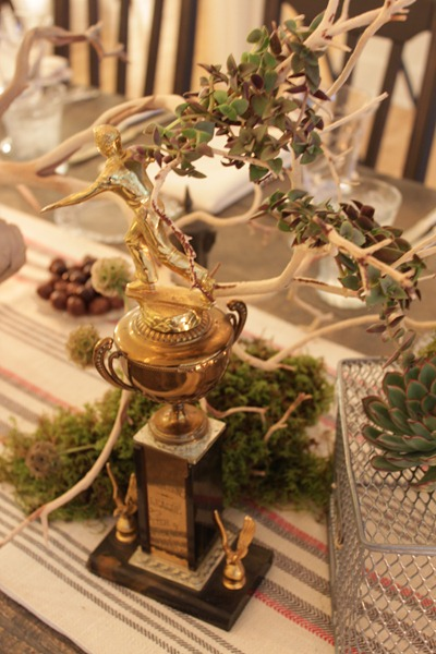 Hello Darling - Organic   Vintage Sports Bar Mitzvah, trophy