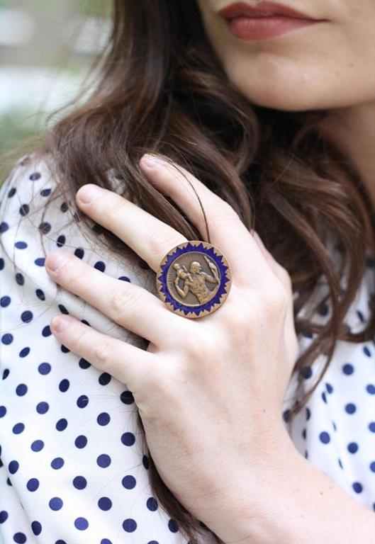 Vintage Brass Saint Ring, £14, Bohoemianrose Vintage