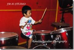 Violino Ridho Putra Belajar Drum di JM 83 Studio