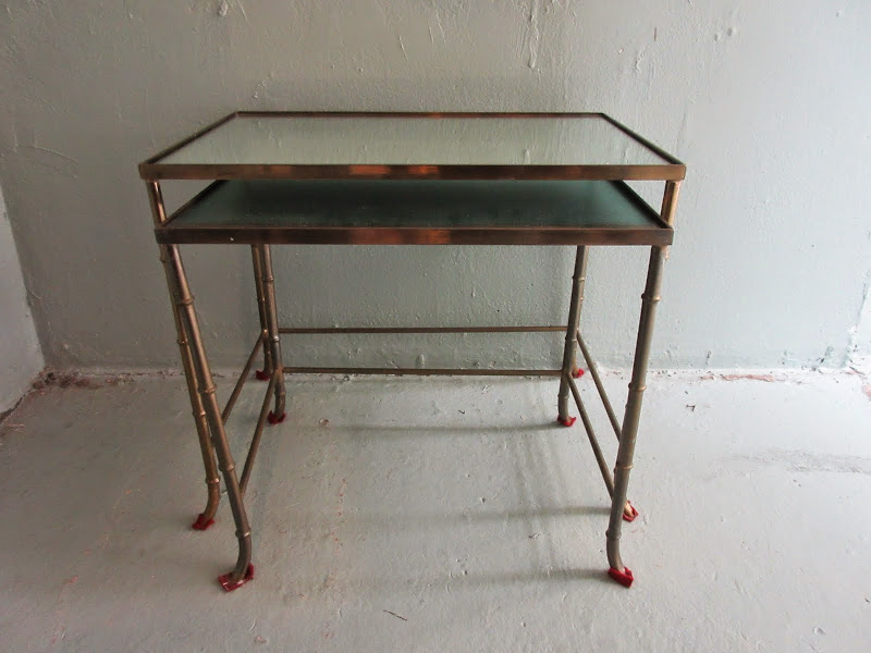 Mirrored Nesting Tables