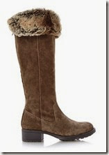 Fur lined and cuffed boot - can be turned up as well