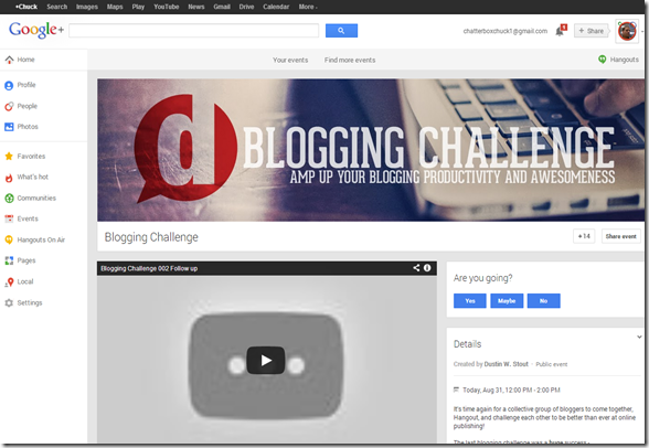 1  Blogging Challenge   Google