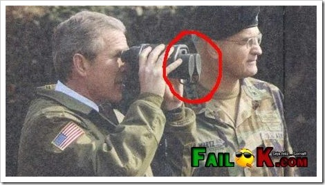 Funny Fail - George Bush and his Binoculars.