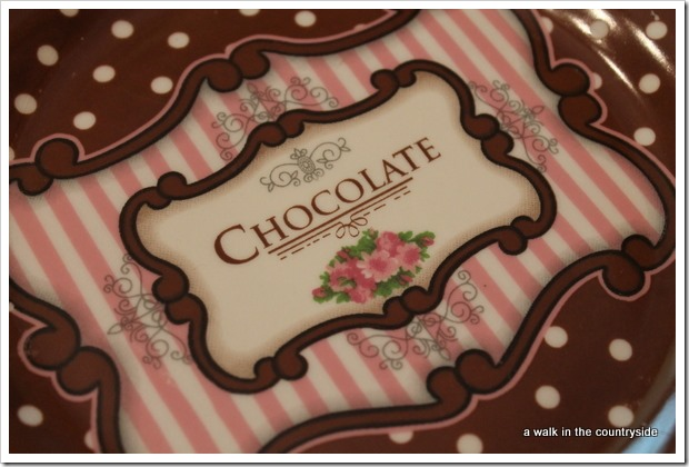 chocolate dessert plates