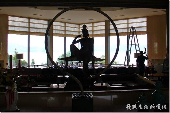 南投日月潭-雲品酒店。這尊觀音也是在一樓的大廳吧!