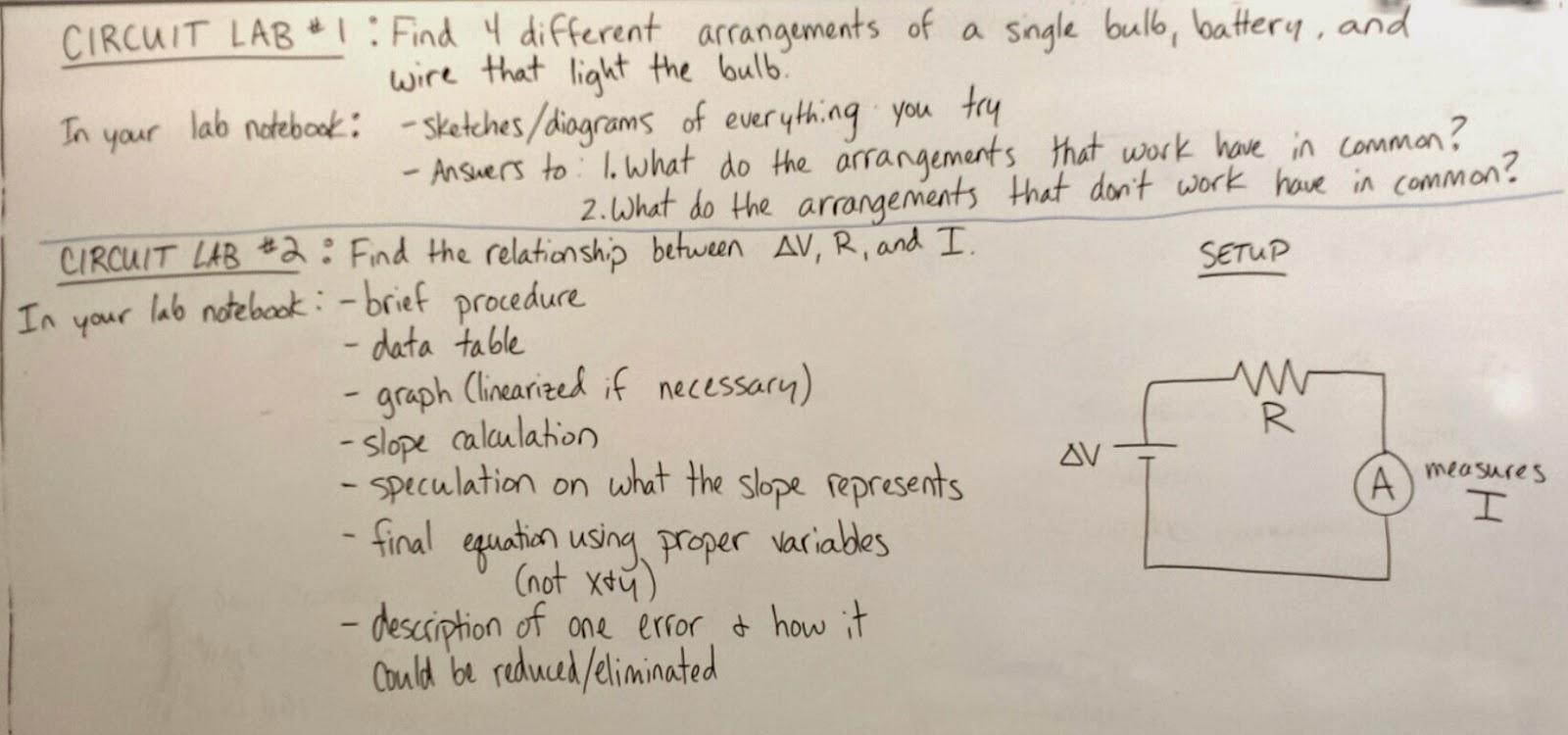 Volkening S Physics Classes Circuit Labs 1 2