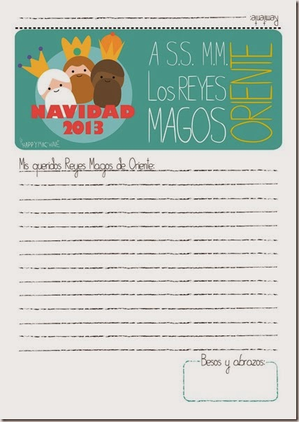 Happy-carta a Los Reyes Magos 2013