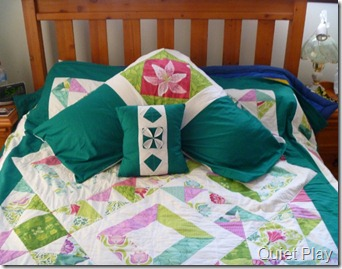 XOXO quilt and pillow