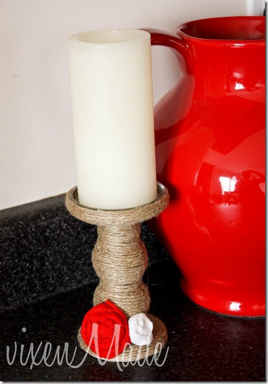 diy projects with jute--update a glass candlestick by wrapping jute around the candlestick