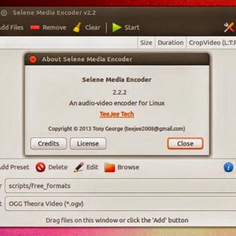 Selene Media Encoder conversor de audio y vídeo con una interfaz muy sencilla.