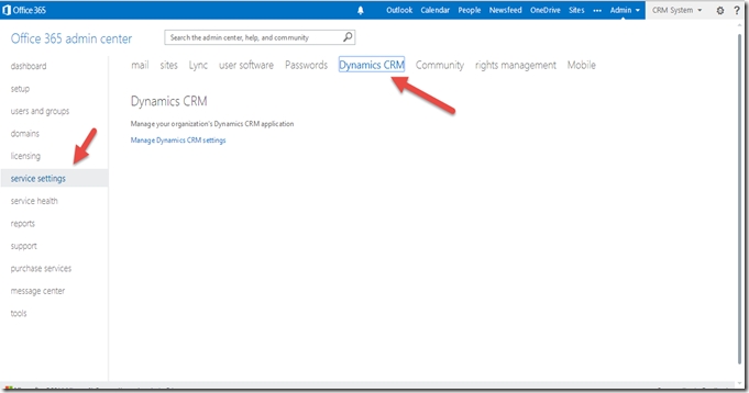 3 go to Dynamics CRM