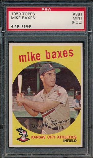 1959 Topps 381 Mike Baxes