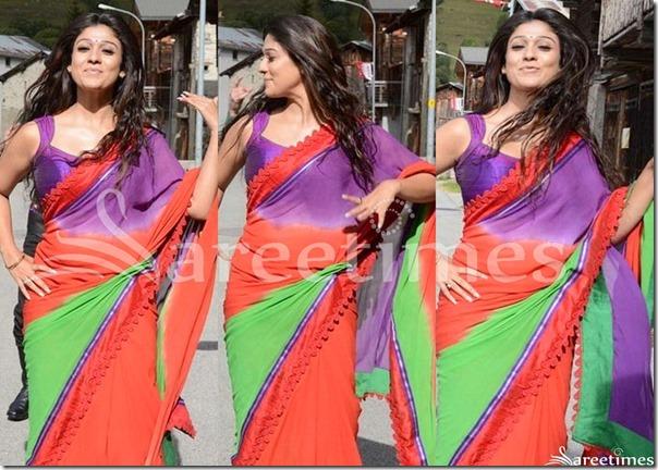 Nayanthara_Tricolor_Georgette_Saree(1)