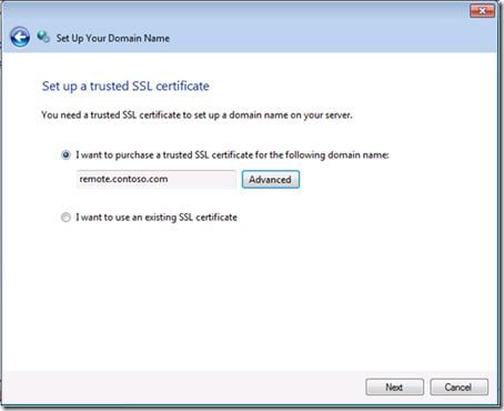 Set up a Trusted SSL Certificate