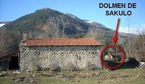 Localización del dolmen de Sakulo