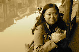 Xitang - Mon amie Daisy, petit déjeuner Zhongzi au bord du canal