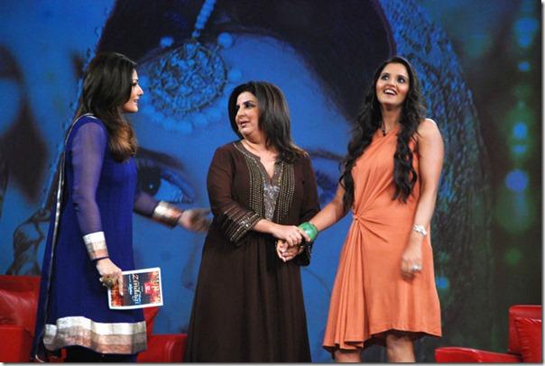 """Shoaib Malik and Sania Mirza on Raveena's show """"Isi ka Naam Zindagi Hai""""-10"""